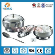hot-sale stainless steel kitchen sugar bowl