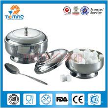 hot-sale stainless steel kitchen sugar bowl