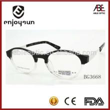 2015 novo design de cor dois homens acetato óculos óculos lunar óculos