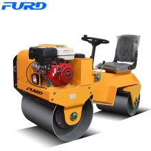 Mini Single Cylinder Diesel Engine 700kg Double Drum Roller Compactor