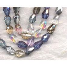 Mixed Colors Faceted Teardrop Beads