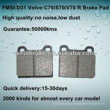 D31 Almofada de freio de disco de baixa metalização do metal da ALTA QUALIDADE para BENZ300 / 350/400/560