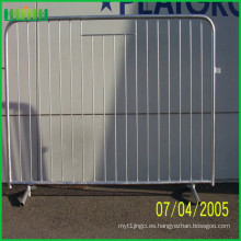 Barrera de control de muchedumbre de metal a medida, barricadas portátiles