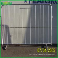 Barrière personnalisée de contrôle des foules en métal, barricades portatives