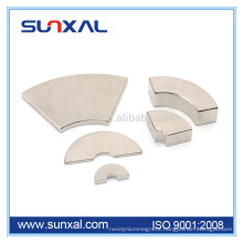 Strong segment neodymium permanent magnes for synchronous electric car motor
