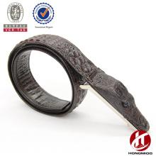 Wenzhou manufacture cheaper crocodile head leather belt