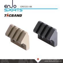 Tacband Keymod 45 Degree Offset Picatinny Rail Фонарик / Аксессуар для установки Тактический фонарик (3 слота / 1,5 дюйма) Черный
