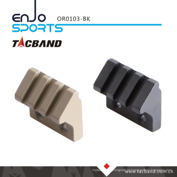 Tacband Keymod 45 graus deslocamento Picatinny ferroviário lanterna / acessório montagem tático lanterna (3 slot / 1,5 polegadas) preto