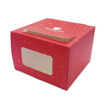 Window red paper coated paper gift box