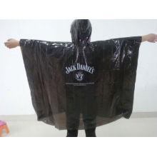 Poncho de pluie PE noir jetable