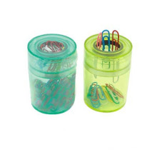 Round Shape Magnetic Paper Clip Dispenser or Clip Holder
