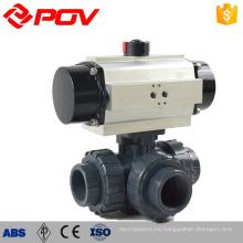 Palanca de accionamiento de plástico upvc 3 vías válvula de agua