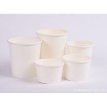 Tigela de papel Kraft para alimentos
