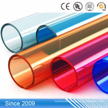 Colorful hard PP pipe/ PP plastic pipe /tube,small plastic rigid pvc transparent tube