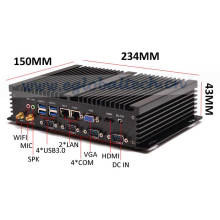 Industrial Mini Server I5 Fanless Small Computer PC Windows10 2intel 82574L Nics Desktop