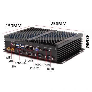 Industrial Mini Server I5 Fanless Small Computer PC Windows10 2intel 82574L Nics Desktop