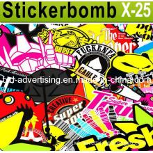 PVC Adhesive Hellaflush Graffiti Vinyl Bomb Car Sticker Decal Sticker Bomb for Car Accessories
