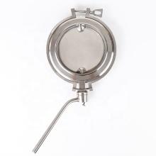 Válvula de mariposa de polvo manual de abrazadera media sanitaria DN200