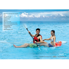 Doble / Single Seaters Transparente Kayak / Barco para Seabeach