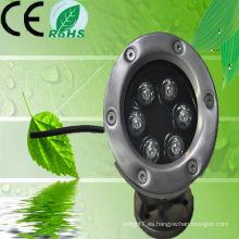 China Huerler 3w 5w 9w 12w 18w IP68 inoxidable llevado fuente luz impermeable 12v 24v con CE & ROHS aprobado