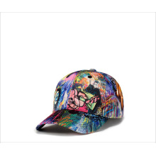 Man skull cap abstract doodle baseball cap