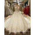 2017 Luxury ZhongShan heavy beading deep sweetheart neck ball gown wedding dress
