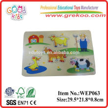 Yiwu EN71 konforme pädagogische hölzerne Puzzlespiel-Spielwaren
