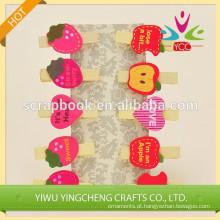 Clipe de papel novo produto clip decorativo de madeira colorida