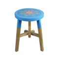 Wooden blue stools