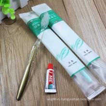 Дешевая одноразовая зубная щетка для гостиниц
