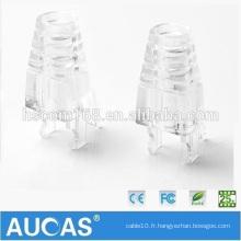 Plastique souple 8P8C UTP Cat6 Patch RJ45 Module Plug Boots Caps Cat5e boîtier de connecteur modulaire