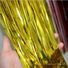 Decoración de fiesta Papel metálico Fondo de cortina de oro