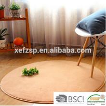 tapis de sol rond lavable en microfibre polyester pour yoga