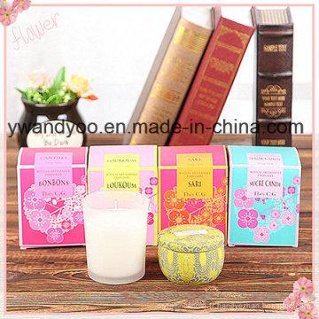 Bougie parfumée parfumée à base de soja