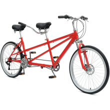 """26"""" 7s Good Quality Carbon Women Beach Tandem Bicycle"""