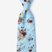 Handmade Mens Printed Slim 100% Cotton Tie