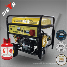 BISON China Taizhou 5kW tragbare natürliche LPG Generator Green Power