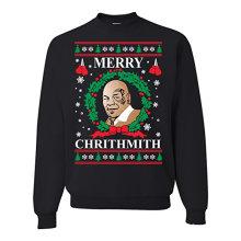 Chrithmith alegre Mike Tyson suéter feo de la Navidad suéter unisex del crewneck