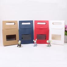 Bunte kundengebundene Kraftpapier-Geschenk-Taschen mit Fenster