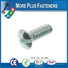 Made in Taiwan DIN 964 M5x40 Slotted Raised Countersunk Head Screw A4 Stainless Steel