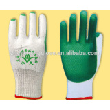 laminated rubber cotton yarn safety work protective gloves