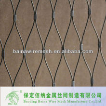 flexible rope mesh with ferrules