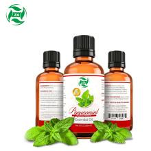 Aceite esencial de menta orgánico natural puro al 100%.