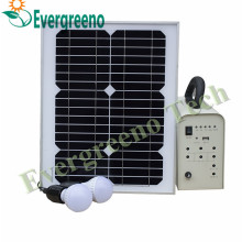 Portable Solar Lighting System Kit with Li-Battery for Home Use
