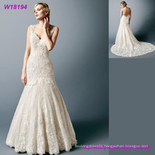 Sparkling Beaded Tulle Wedding Bridal Dress with Trumpet 2017