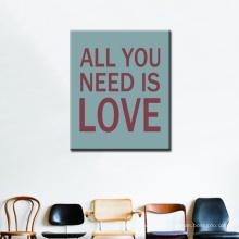Tout ce que vous avez besoin est Love Canvas Arts