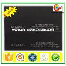 Papier cartonné noir non revêtu de 180 g