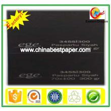 Uncoated 180g Black Cardboard Paper