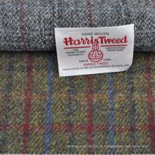 Bestseller-Design rot blau kariert 100% Wolle Harris Tweed Blazer Stoff