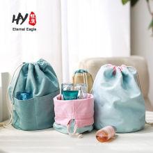 Bolsa de cordão de lona de algodão conveniente reversível de dois coletes